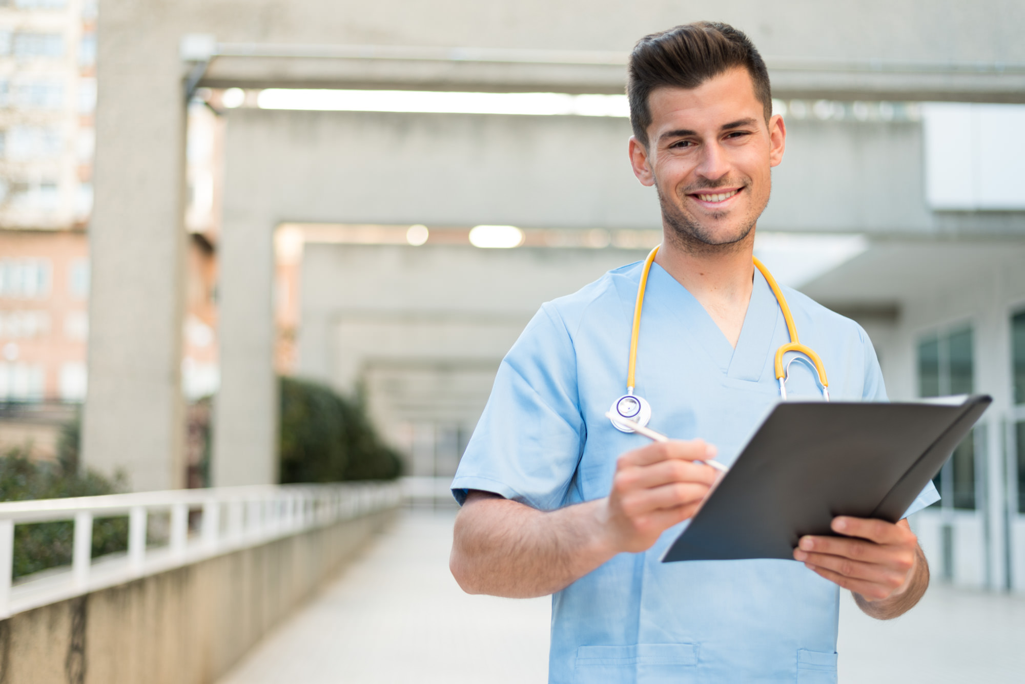 male nurse vet